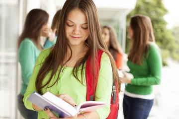 Happy teenager student
