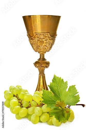 calice con uva - eucarestia - comunione - 79257809