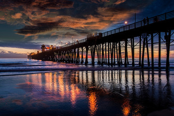 Reflections at Oceanside Pier