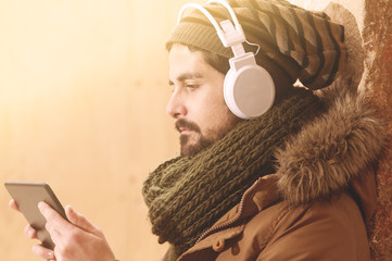 Listening to some online radio in instagram style