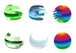 Abstract round bright multicolored icons.