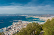 Постер, плакат: View of the city of Gibraltar and the Bay of Gibraltar