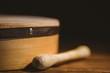 Leinwanddruck Bild - Traditional Irish bodhran and stick
