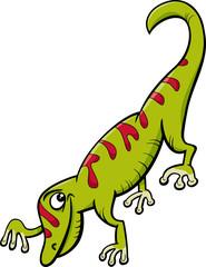gecko reptile cartoon illustration
