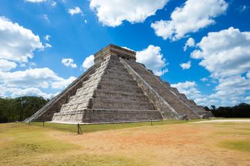 Kukulkan Pyramid in Chichen Itza Site