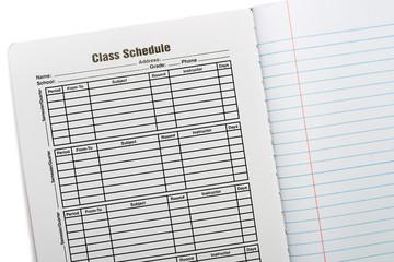Composition Book School Schedule