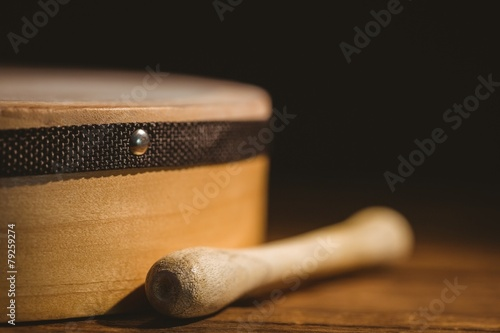 Leinwanddruck Bild Traditional Irish bodhran and stick
