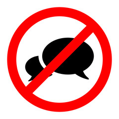 No talk icon great for any use. Vector EPS10.