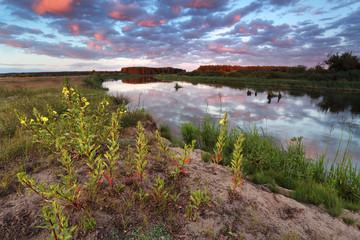 Evening on the river Neman