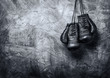 canvas print picture - old boxing gloves
