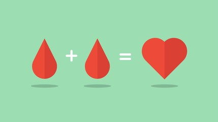 blood donation saves lives, vector illustration