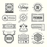 Fototapety set of vintage logos, badges and labels
