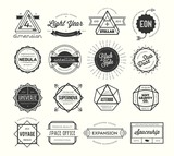Fototapety set of vintage badges and labels, inspired by space themes