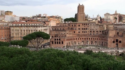 Panorama of the Roman Forum & Trajan's Forum. Rome