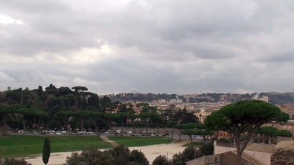 Circus Maximus & Via del Circo Massimo from the Palatine Hill