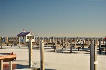 Docks in Winter at Empty Marina
