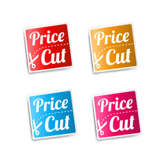 Price Cut Stickers