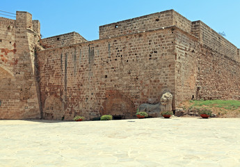 Walls of Famagusta Fortress, Cyprus.