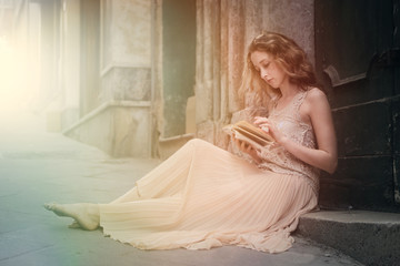 Beautiful girl reading