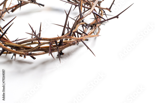 A crown of thorns on a white background - Easter. religion. - 79264087
