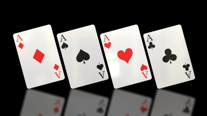 Flipping Aces Playing Cards