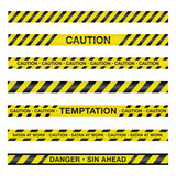 Spiritual Caution Tape Illustration