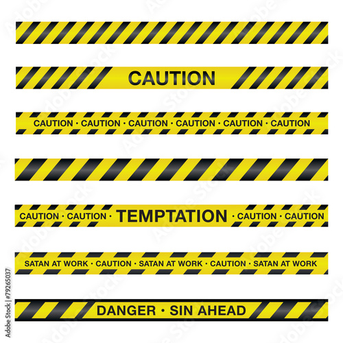 Spiritual Caution Tape Illustration - 79265037