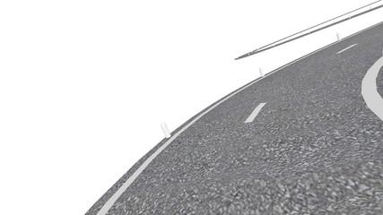 Winding Road Animation
