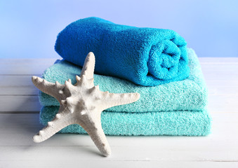 Terry towels with starfish