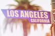 Los Angeles California Street Sign