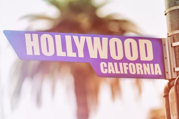 Hollywood California Street Sign