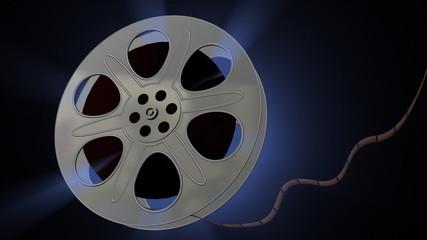 Film Reel Blue Aura Animation