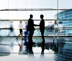 Business People Handshake Greeting Agreement Team Concept