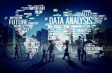 Data Analysis Analytics Comparison Information Concept