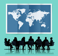 World Global Business Cartography Globalization Concept