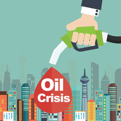 Oil crisis illustration concept