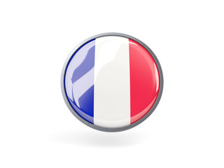 Round icon with flag of france