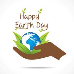 happy earth day design vector
