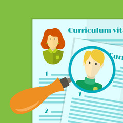 the choice of candidate for the job, curriculum vitae stack