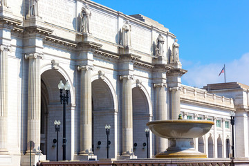 Facade of the Union Station in Washington DC.