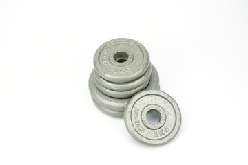Weights, isolated on white background