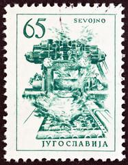 Copper rolling mill in Sevojno (Yugoslavia 1961)