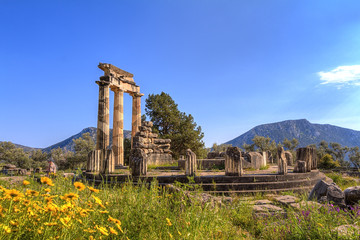 The Temple of Apollo,Delphi,Greece