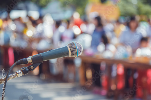 Microphone at the school - 79271414