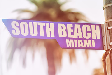 South Beach Miami Street Sign