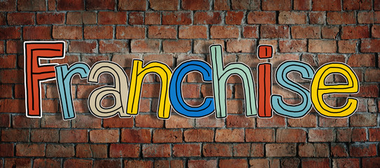Word Franchise Brick Wall Commercial Concept