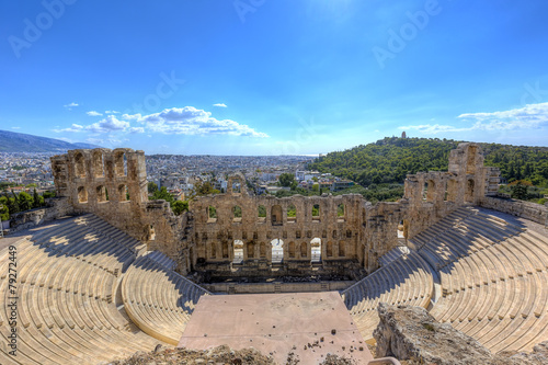 Staande foto Athene The Odeon of Herodes Atticus in Athens,Greece