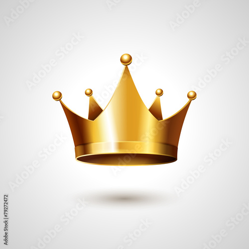 Gold Crown  Isolated On White Background - 79272472