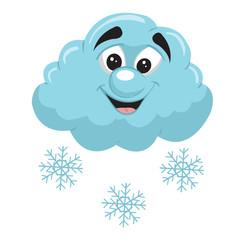 snow cloud cartoon