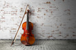 Leinwanddruck Bild - classical violin in vintage background
